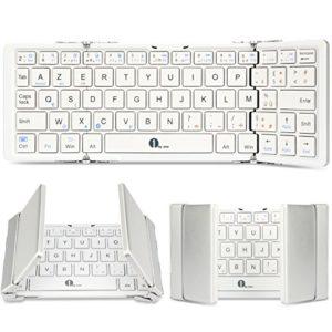 1byone-Clavier-Tri-Pliable-AZERTY-Bluetooth-sans-Fil-pour-iOS-Android-Windows-PC-Tablettes-et-Smartphone-181-g-Franais-0-1