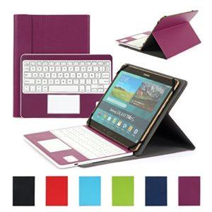 Clavier-AZERTY-Bluetooth-30-tui-Housse-pour-tout-systme-Windows-Android-Tablette-PC-90-106-pouces-Touchpad-tactile-0-3