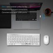JOYACCESS-Ensemble-Clavier-AZERTY-Souris-sans-fil-Saisie-silencieuse-Ultra-mince-fin-Rcepteur-USB-Compact-Pour-ordinateur--ArgentBlanc-0-0