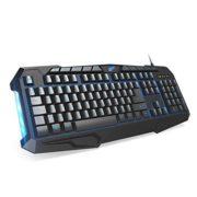 1byone-Clavier-Gaming-AZERTY-114-Touches-Filaire-USB-avec-Raccourcis-mdias-et-Rtro-clairage-3-Luminosits-de-Couleurs-0