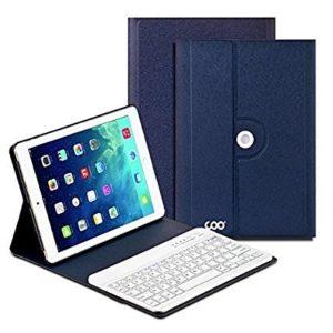 Clavier-Bluetooth-tui-iPad-Air-1-2-COO-Clavier-dInput-Franais-sans-Fil-Coque-Amovible-360-et-Multi-angle-Support-pour-IOS-Android-et-Windows-3-en-1-Compatible-Bleu-Fonc-0