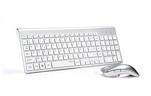 TopMate-KM9001-Ensembles-Clavier-et-Souris-Sans-Fil-pour-PC-et-ordinateur-portable-AZERTY-Blanc-argent-0