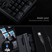 AUKEY-Clavier-Mcanique-Gamer-USB-LED-Rtro-clair-Blue-Commutateurs-105-Touches-AZERTY-Clavier-Gaming-de-Panneau-en-Mtal-100-Aucun-de-Conflit-avec-Outil-dExtracteur-de-Keycap-pour-Joueur-Dactylo-etc-0-2