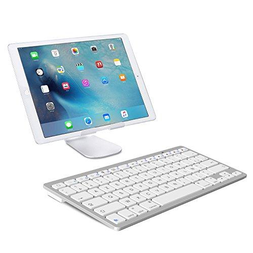 pas mal 40a16 b2ffb OMOTON Clavier Bluetooth Français AZERTY Accentué Ultra Mince pour Tablette  iOS,iPad Air, iPhone,Clavier sans Fil