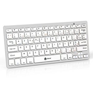 Clavier-Bluetooth-iClever-Clavier-Sans-fil-AZERTY-Mini-Clavier-Franais-Ultra-mince-et-Portable-pour-iOSMac-Windows-Android-Smartphone-PC-Tablette-Blanc-0