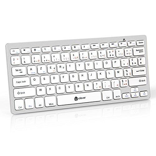 Clavier-Bluetooth-iClever-Clavier-Sans-fil-AZERTY-Mini-Clavier-Franais-Ultra-mince-et-Portable-pour-iOSMac-Windows-Android-Smartphone-PC-Tablette-Blanc-0