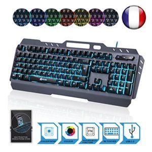 KLIM-LIGHTNING-NOUVEAU-Clavier-Hybride-Semi-Mcanique-AZERTY-Choix-de-7-couleurs-Garantie-5-ans-Structure-en-Mtal-Clavier-gamer-gaming-jeux-vidos-PC-Windows-Mac-0-1