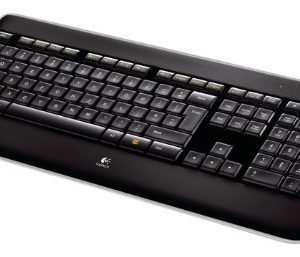 Logitech-Wireless-Illuminated-Keyboard-K800-Clavier-sans-fil-AZERTY-Rtroclair-Noir-0