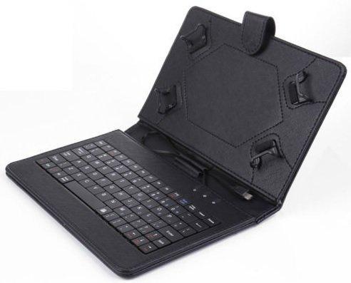 Xido-Z90-Clavier-pour-Tablette-PC-96-pouces-et-97-pouces-96-en-cuir-mini-USB-PC-portable-7-97-pouces-Notebook-Micro-Android-tui-de-protection-250-x-200-x-20-Schwarz-0