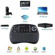 iPazzPort-24Hz-Mini-Clavier-Franais-Sans-Fil-AZERTY-Rtro-clair-Clavier-Mini-Wireless-Keyboard-Rechargeable-avec-souris-Touchpad-Pour-Smart-TV-mini-PC-HTPC-Console-TV-Box-Ordinateur-0-0