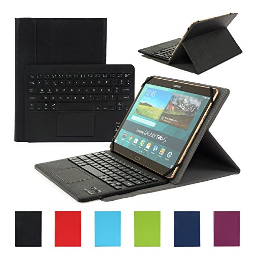 Clavier-AZERTY-Bluetooth-30-tui-Housse-pour-tout-systme-Windows-Android-Tablette-PC-90-106-pouces-Touchpad-tactile-0