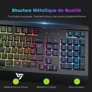 VICTSING-Clavier-Gamer-Filaire-Ultra-Mince-Gaming-Keyboard-Tout-Mtallique-USB-Ergonomique-LED-Rtro-clairage-avec-Raccourci-Multimdia-Repose-Poignet-pour-PS4-PC-Ordinateur-Bureau-Jeux-0-0