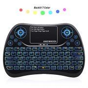 ANEWKODI-AZERTY-Mini-Clavier-Rtro-clair-Sans-fil-24GHz-Mini-Clavier-de-Souris-Combo-Mini-Clavier-Wireless-Tlcommande-pour-Tlviseur-intelligentHTPCIPTV-Tlviseur-Android-XBOX360-PS3-PC-0-0