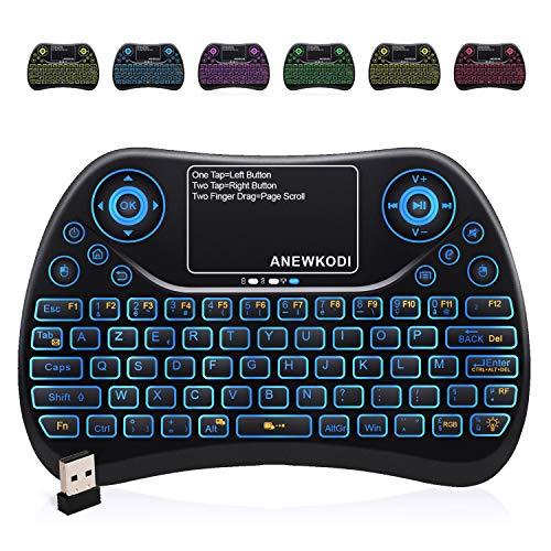 ANEWKODI-AZERTY-Mini-Clavier-Rtro-clair-Sans-fil-24GHz-Mini-Clavier-de-Souris-Combo-Mini-Clavier-Wireless-Tlcommande-pour-Tlviseur-intelligentHTPCIPTV-Tlviseur-Android-XBOX360-PS3-PC-0