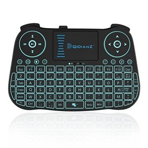DQiDianZAZERTYMini-Clavier-sans-Fil-24G-rtro-clair-Touchpad-Clavier-gamer-de-souris-wireless-pour-Multimdia-Android-Smart-TV-Box-PC-Noir-Version-franais-0
