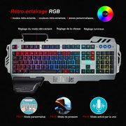 RedThunder-Clavier-Gamers-Filaire-AZERTY-FRANAIS-Haute-Performance-USB-Clavier-Ergonomique-Eclairage-Chromatique-Gaming-Noir-RGB-PC-PS4-Xbox-One-0-0