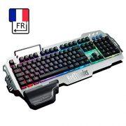 RedThunder-Clavier-Gamers-Filaire-AZERTY-FRANAIS-Haute-Performance-USB-Clavier-Ergonomique-Eclairage-Chromatique-Gaming-Noir-RGB-PC-PS4-Xbox-One-0