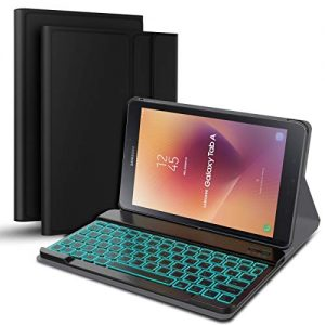Wendapai-Clavier-Bluetooth-Coque-Samsung-Galaxy-Tab-A-105-T595-T590-AZERTY-franais-Housse-Clavier-pour-Samsung-Galaxy-Tab-A-105-T595-T590Clavier-Bluetooth-sans-Fil-Slim-Etui-Noir-0