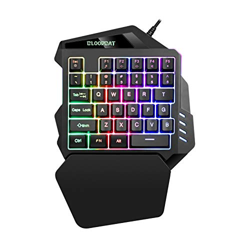 iAmotus-Clavier-de-Jeu-Portable-Ergonomie-Clavier-Gaming–Une-Main-35-Touches-Mcanique-Sensation-RGB-LED-Rtro-clairage-Demi-taille-Mini-Clavier-pour-PC-WindowsMac-Noir-0