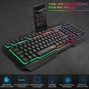 Clavier-Gaming-WisFox-Clavier-Filaire-USB-Rtroclair--LED-Arc-en-Ciel-Color-Clavier-dOrdinateur-Ultra-mince-avec-Panneau-Tout-en-Mtal-avec-Conception-Anti-claboussures-pour-PC-Fans-de-Jeux-0-0