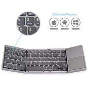 Jelly-Comb-Clavier-Bluetooth-AZERTY-Rechargeable-Pliable-avec-Pav-Tactile-pour-iOS-Android-Windows-Gris-Fonc-0-0