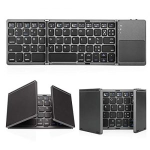 Jelly-Comb-Clavier-Bluetooth-AZERTY-Rechargeable-Pliable-avec-Pav-Tactile-pour-iOS-Android-Windows-Gris-Fonc-0