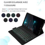 Jelly-Comb-Clavier-Coque-pour-Samsung-Tab-A-101-Bluetooth-tui-de-Protection-Clavier-rtro-clair-AZERTY-Rechargeable-7-Couleurs-clairage-modle-2016-T580-T585-Noir-0-0