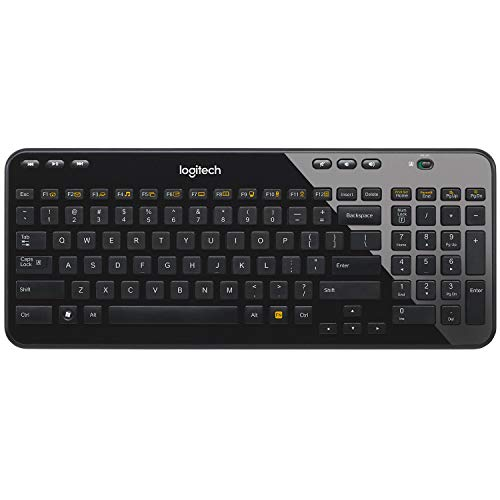 Logitech-Wireless-Desktop-K360-Clavier-sans-fil-Six-touches-de-raccourci-Unifying-12-touches-de-fonctions-programmables-AZERTY-Noir-0