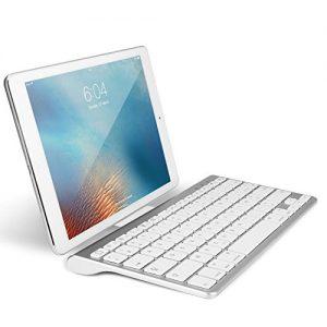 OMOTON-Clavier-Bluetooth-IOS-AZERTY-Accentu-avec-Support-Ultra-Mince-pour-Tous-les-iPad-102-97-iPad-Air-iPhoneClavier-Sans-Fil-Blanc-0