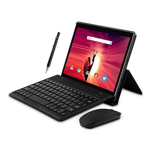 4G-Tablette-Tactile-10-Pouces-Android-81-2-in1-Tabletts-avec-Clavier-4-Go-de-RAM-et-64-Go-ROM-8000mAh-50-MP-80-MP-HD-Camera-Doule-SIM-WiFi-Bluetooth-GPS-OTG-Noir-0
