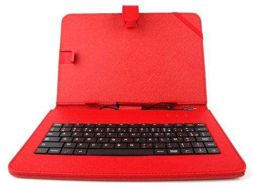 DURAGADGET-Etui-Rouge-Clavier-intgr-AZERTY-franais-pour-Archos-Access-101-3G-Core-101-3G-Junior-Tab-101-Tablette-Tactile-101-Stylet-Bonus-0