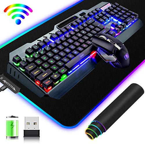 Ensemble-Clavier-souris-gamer-sans-Fil-24G2400mAh-rechargeablesavec-arc-en-ciel-rtro-clairLED-Souris-respiratoire-rtroclaire-7-couleurs-Tapis-de-souris-de-jeu-RVB-grand-pour-PC-Ordinateur-0