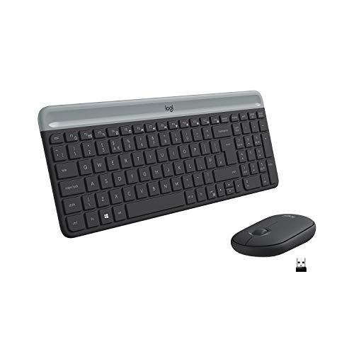 Logitech-MK470-Combo-Clavier-et-Souris-sans-Fil-pour-Windows-24-GHz-avec-Rcepteur-USB-Unifying-Ultra-Fin-Discret-Batterie-Longue-Dure-Souris-Optique-Clavier-AZERTY-Franais-Noir-0