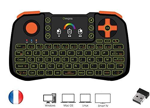 Ovegna-Z10-Mini-Clavier-4-en-1-Souris-Clavier-Tlcommande-et-Manette-AZERTY-24Ghz-sans-Fil-avec-Touchpad-pour-Smart-TV-Mac-PC-Mini-PCRaspberry-PI-23-Consoles-et-Android-Box-0