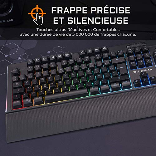The-G-LAB-KEYZ-Tellurium-Clavier-Gamer-AZERTY-filaire-USB-Clavier-gaming-avec-Rtro-clairage-RGB-Multicolore-Repose-poignets-Magntique-6-Touches-Macros-Anti-Ghosting-PC-Mac-PS4-Xbox-OneNoir-0-0