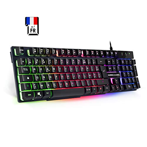 EMPIRE-GAMING–Clavier-Gamers-K300–105-Touches-Semi-Mcaniques–Rtro-Eclairage-LED-RGB-19-Touches-Anti-Ghosting–12-Raccourcis-Multimdia-USB-Filaire-0