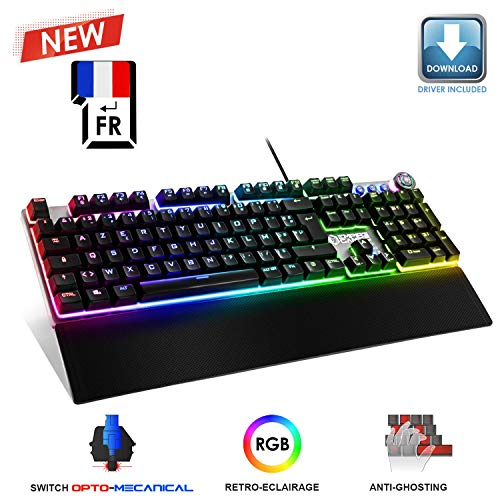 EMPIRE-GAMING–STARDUST-Clavier-Gamer–Touches-Opto-Mcaniques–Rtro-Eclairage-LED-RGB-Logiciel-Programmation-Repose-Poignets-Amovible-AZERTY-Franais-0