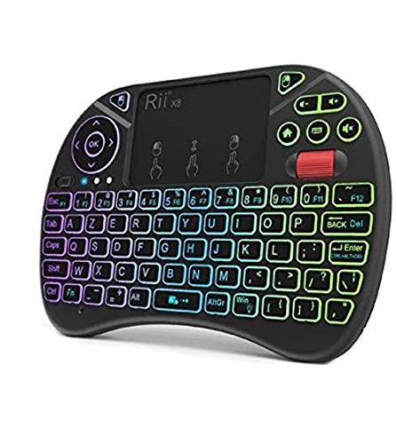 RiiTek-X8-Azerty-Mini-Clavier-Rtroclair-sans-Fil-avec-Touchpad-LED-Rtro-clair-pour-Smart-TV-PC-Mini-PCRaspberry-Pi-3Console-de-Jeux-Ordinateurs-Portables-et-Android-Box-0