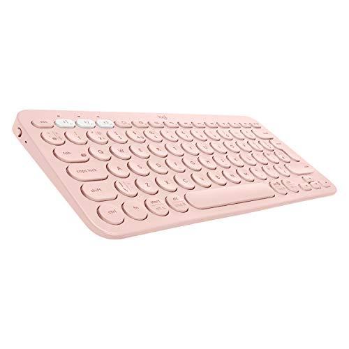 Logitech-K380-Clavier-sans-Fil-Multi-Dispositifs-pour-Windows-Apple-iOS-Android-or-Chrome-Bluetooth-Design-Compact-PC-Mac-Portable-Smartphone-Tablet-Apple-TV-Clavier-AZERTY-Franais-Rose-0