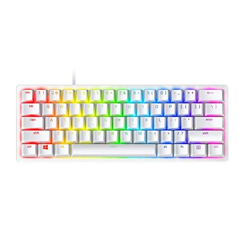 Razer-Huntsman-Mini-Mercury-Ed-Purple-Switch-clavier-de-jeu-compact-clavier-compact-60-avec-commutateurs-opto-mcaniques-Clicky-touches-PBT-cble-USB-C-dtachable-US-Layout-Blanc-0