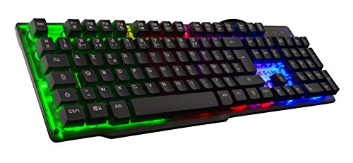 THE-G-LAB-KEYZ-NEON-Clavier-Gaming-Haute-performance-Membrane-Ultra-Ractive-Rtroclairage-RAINBOW-Multicolore-Layout-Franais-0