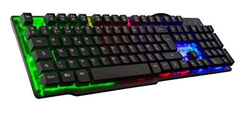 The-G-Lab-Keyz-Neon-USB-QWERTY-Espagnole-Noir-Claviers-Avec-fil-USB-Clavier–membrane-QWERTY-LED-Noir-0